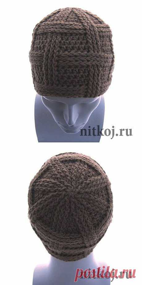 """Men's Segment cap\"""" the Thread - knitted things for your house, knitting by a hook, knitting by spokes, schemes of knitting"""