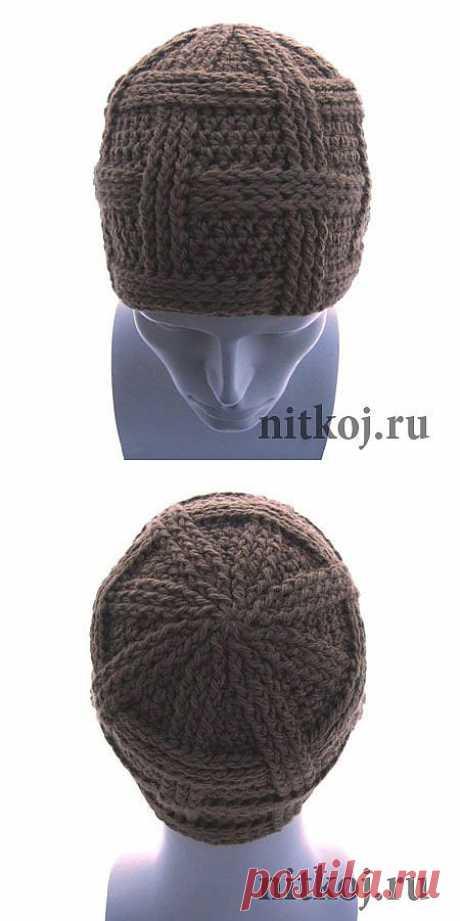 Мужская шапка «Сегмент» » Ниткой - вязаные вещи для вашего дома, вязание крючком, вязание спицами, схемы вязания
