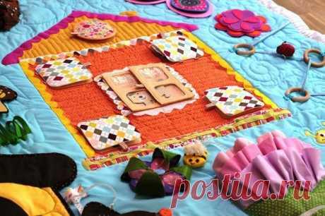НАША СТРАНА МАСТЕРОВ: Как сшить развивающий коврик для малыша