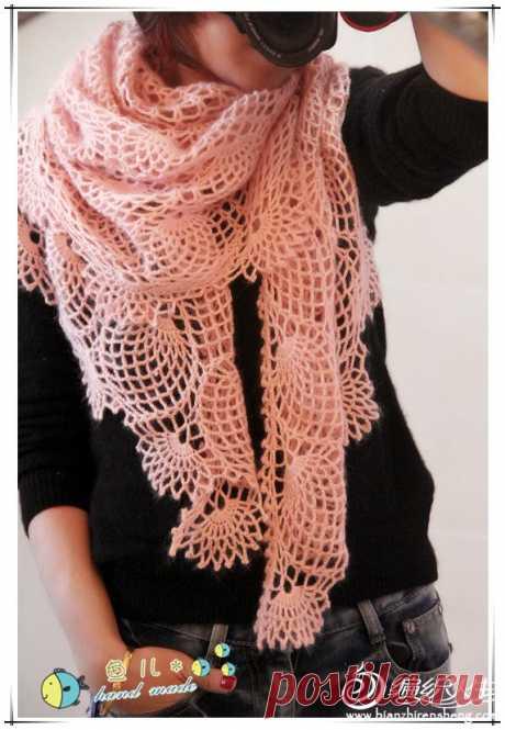 ergahandmade: Crochet Shawl + Diagram