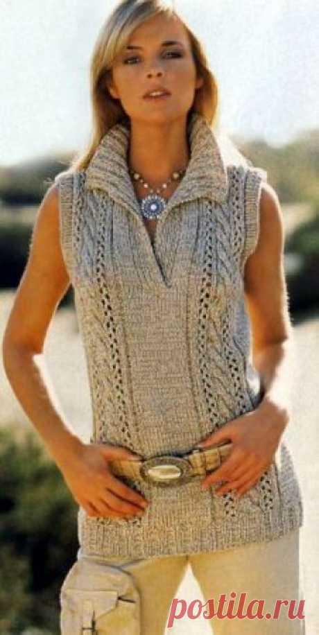 El pulóver sin mangas