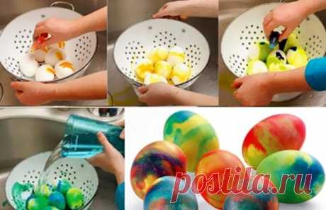 Как красиво покрасить и украсить яйца на Пасху 2020? Покраска пасхальных яиц в домашних уловиях