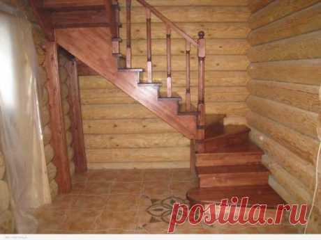 Очень простая межэтажная лестница домой своими руками в частном доме