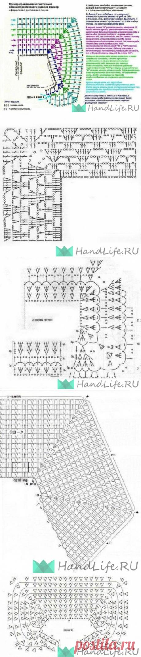 Вязание реглана спицами и крючком / Вязание