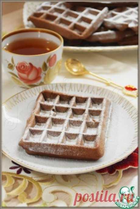 Шоколадно-банановые вафли – кулинарный рецепт