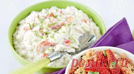 Рисовая каша с клубникой и кокосовым молоком. Пошаговый рецепт с фото на Gastronom.ru