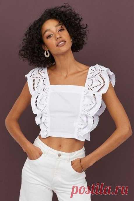 Кружевные белые блузы и топы: подборка идей на лето