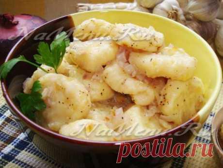 Рецепт ленивых вареников с картошкой