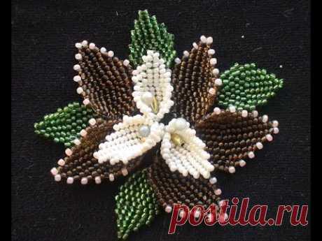 The leaf of beads. Mosaic. English explanation.