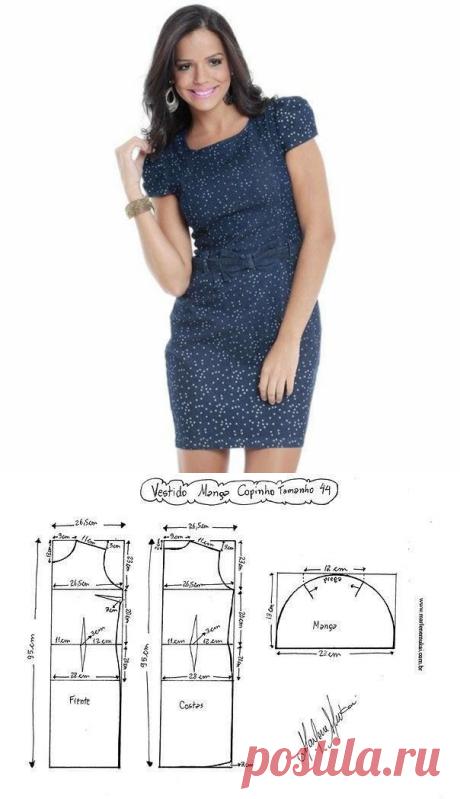 Схемы – выкройки красивого летнего платья – много размеров! (Шитье и крой) – Журнал Вдохновение Рукодельницы