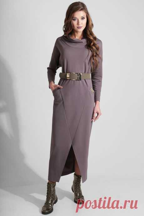 Платье Axxa 55096 темно-розовые тона