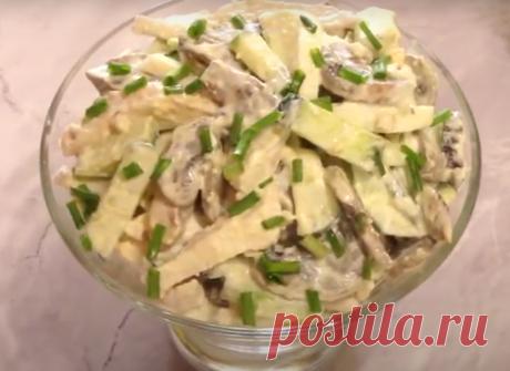 Салат «Вкусная жизнь» Довольно интересный салат с курицей и жареными грибами. Он очень быстро готовится, а подойдет не только для повседневного, но и праздничного стола. Грибы можно использовать любые, самые быстрые в приготовлении — шампиньоны. Но более интересный вкус и аромат дают белые грибы. Их кончено готовить чуть дольше, но это того стоит. Необходимые продукты 350 грамм грибов […] Читай дальше на сайте. Жми подробнее ➡