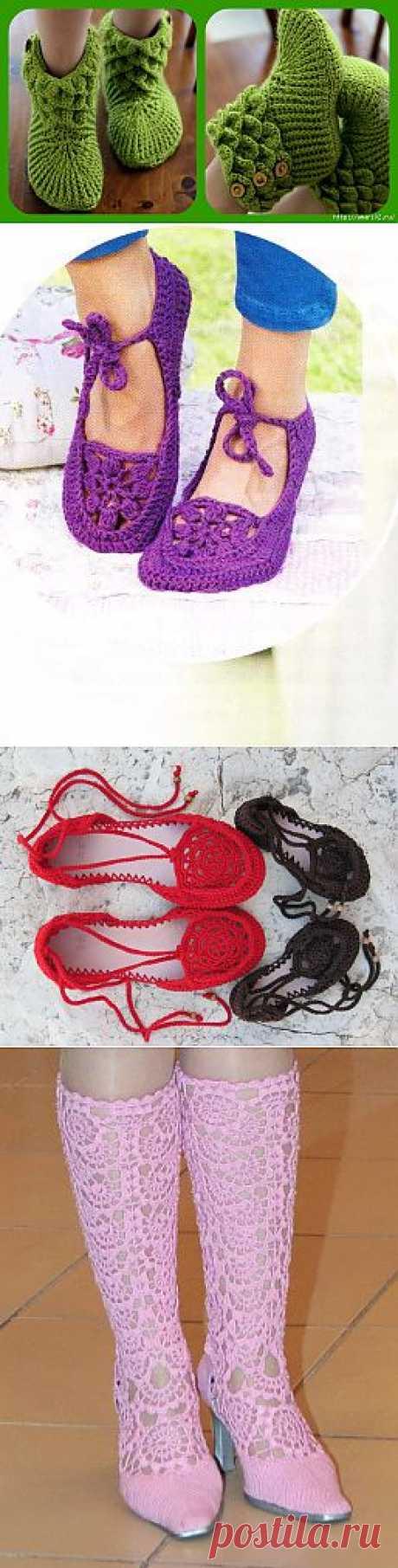 обувь крючком - Самое интересное в блогах