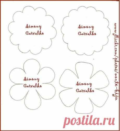 Шаблоны для изготовления цветов своими руками из бумаги или ткани