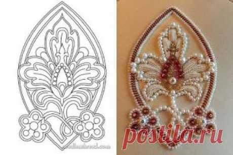 Красивые орнаменты для вышивки бисером и ..... #бисероплетение #biserok