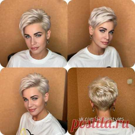 Красивая, стильная стрижка и укладка для коротких волос