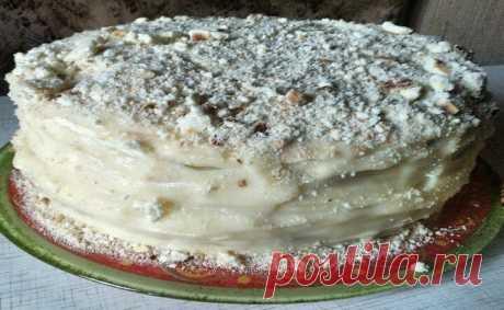 Тортик на сковородке Меня рецепт этого тортика подкупил сразу же, как только я его прочитала. Решила: готовить незамедлительно!