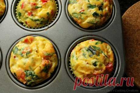 Кулинарные творения Мэри Эллен: Завтрак на ходу - яичные кексы