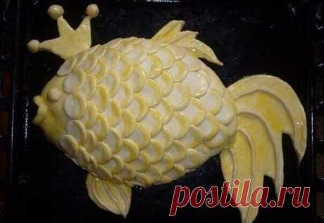 Рыбный пирог «Золотая рыбка» | Любимые рецепты