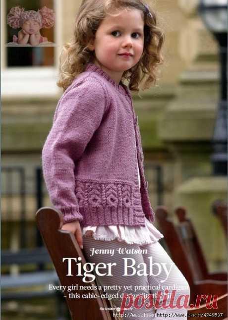 Вязаный жакет для девочки от дизайнера Jenny Watson — HandMade