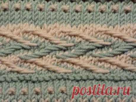 Вязание-спицы >Рисунок со снятыми петлями