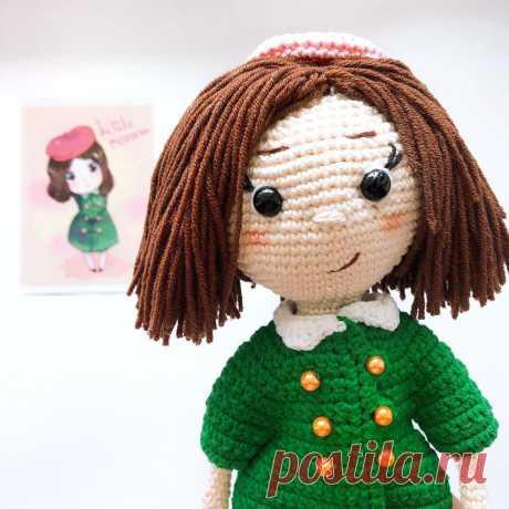 PDF Мисс Фортуна крючком. FREE crochet pattern; Аmigurumi doll patterns. Амигуруми схемы и описания на русском. Вязаные игрушки и поделки своими руками #amimore - большая кукла, куколка.