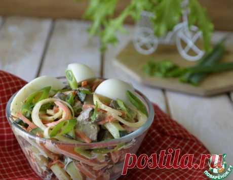 Салат из куриной печени и маринованного лука – кулинарный рецепт