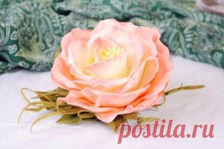 Цветы из фоамирана мастер-класс для начинающих с пошаговыми фото   Твои-Детки.ру
