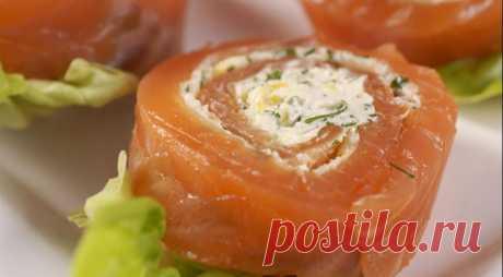 ЗАКУСКА ВСЕМ 29 декабря 2011 / gastronom Норвежские рулетики из лосося