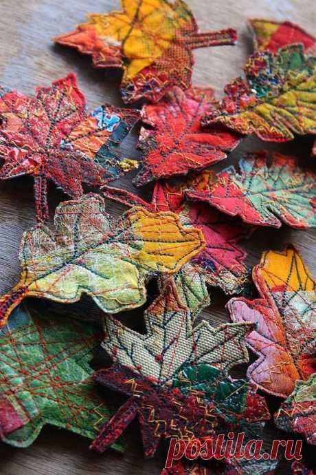 Осенние листья из мусора
