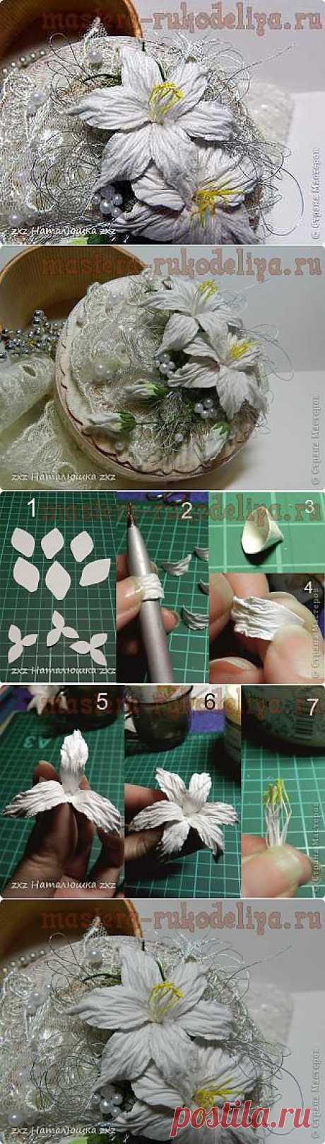 Мастера рукоделия - рукоделие для дома. Бесплатные мастер-классы, фото и видео уроки - Мастер-класс по скрапбукингу: Цветы лилии из бумаги