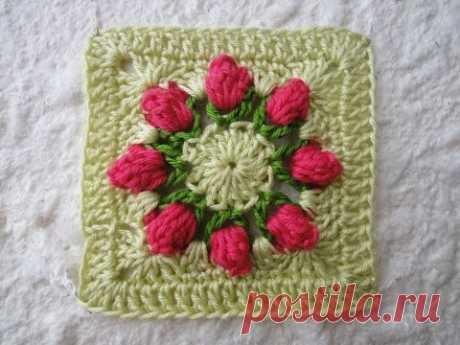 Квадратный мотив Sguare motif Crochet