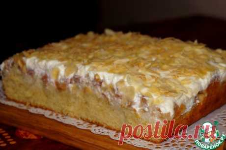 Нежнейший пирог с персиками и грушей... Вкуснятина!!!