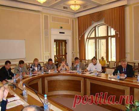 Интерьер зала селекторных совещаний Министерства топлива и энергетики Украины.