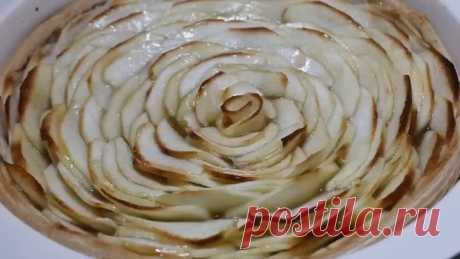 """Невероятный Яблочный Пирог """"Роза""""! Очень душистый замечательный десерт!"""