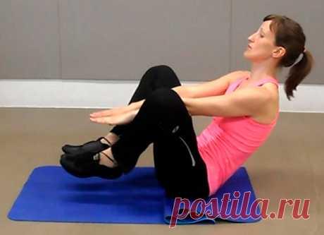 Как убрать живот за 4 минуты... Высокоэффективные упражнения для красивой фигуры!
