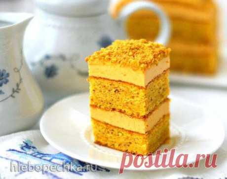 Бисквитные пирожные из тыквы с миндалём - Хлебопечка.ру