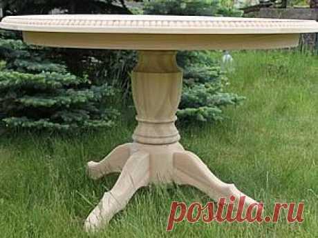 (+1) тема - Изготовление стола с круглой столешницей и одной ножкой на четырех лапах   СДЕЛАЙ САМ!
