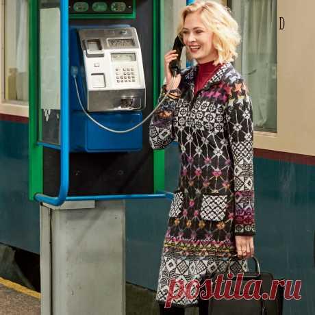 Платье с отложным воротником - схема вязания спицами. Вяжем Платья на Verena.ru
