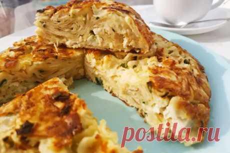 Простой пирог из лаваша с куриным филе на сковороде - БУДЕТ ВКУСНО! - медиаплатформа МирТесен