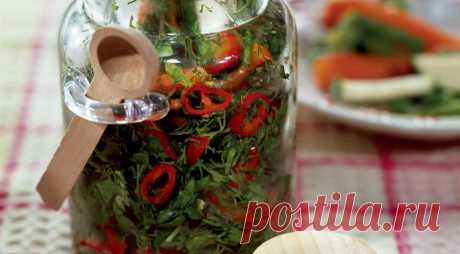 Заготовка из огородной зелени. Пошаговый рецепт с фото на Gastronom.ru