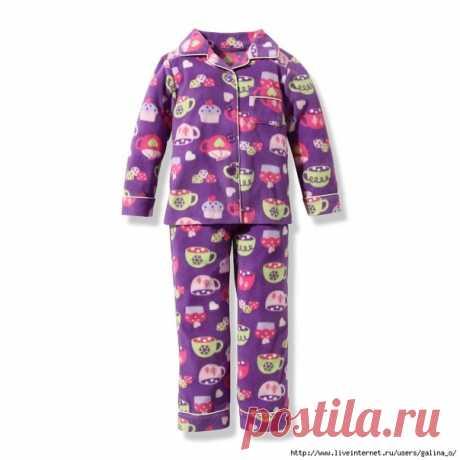 Детская пижама: размеры выкроек- 2, 4, 6, 8, 10, 12 и 14 (евро)