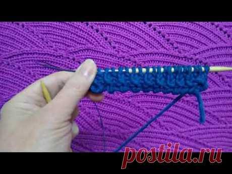 Самый простой способ набора петель с узелковой кромкой. Не очень эластичный