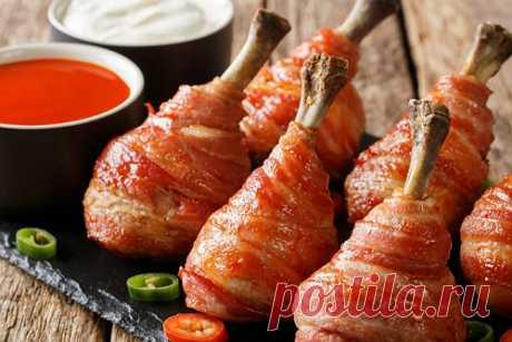 Куриные ножки в нежном беконе | Новости, обзоры, акции в интернет-магазине TOP SHOP