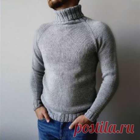 Как связать мужской свитер реглан