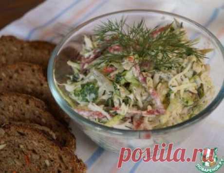 Салат капустный с колбасой – кулинарный рецепт