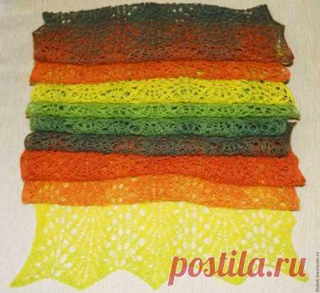 """Купить шарф """" Настроение"""" - шарф женский, шарф вязаный, ажурный шарфик, легкий шарфик"""