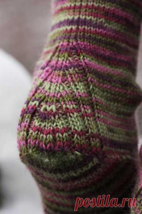 Вяжем носки с красивой и удобной пяткой.   Блог про вязание   Яндекс Дзен