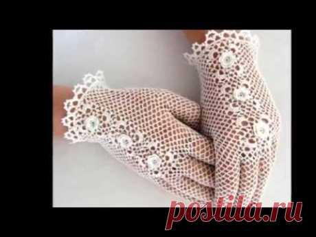 Guantes para novia tejidos a crochet