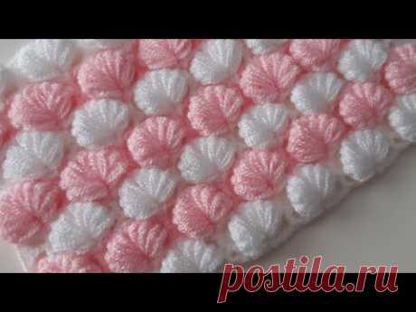 İki renkli farklı örgü modeli & Baby blanket